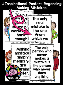 The Girl Who Never Made Mistakes No Prep Printables (Growth Mindset)