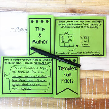 The Girl Who Thought In Pictures Temple Grandin Autism Comprehension Foldable
