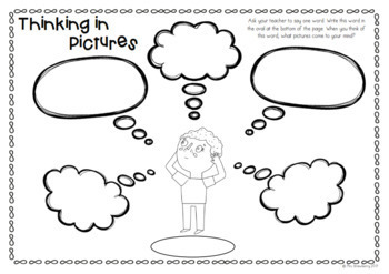 The Girl Who Thought in Pictures Activity Package
