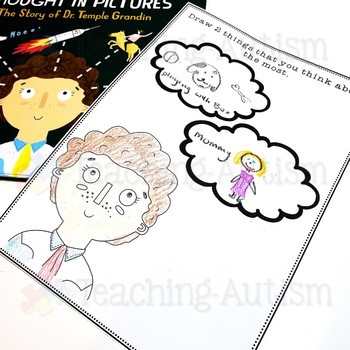 The Girl Who Thought in Pictures Thinking Worksheets