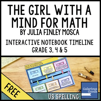 The Girl With a Mind for Math - Free Interactive Notebook Timeline Resource