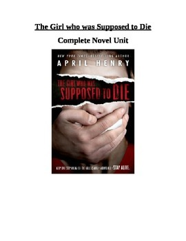 The Girl who was Supposed to Die novel unit