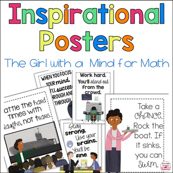 The Girl with a Mind for Math Inspirational Posters