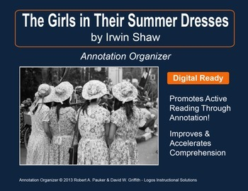 """""""The Girls in Their Summer Dresses"""" by Irwin Shaw: Annotation Organizer"""
