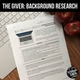 The Giver: Background Research Collaborative Mini-Project {UPDATED}