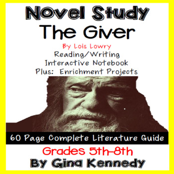 The Giver, Complete Novel Study & Enrichment Project Menu