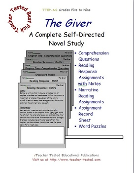 The Giver: A Complete Novel Study