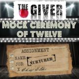 "The Giver Novel Study Activity: ""CEREMONY OF TWELVE"" (Mock"