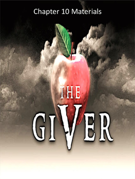 The Giver Annotation Packet - Chapters 10 to 12 (Updated P
