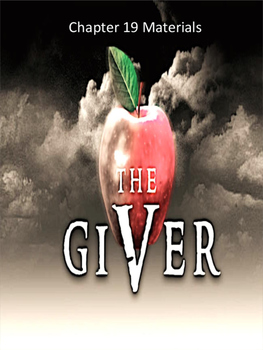 The Giver Annotation Packet - Chapters 19 to 23 (Updated P