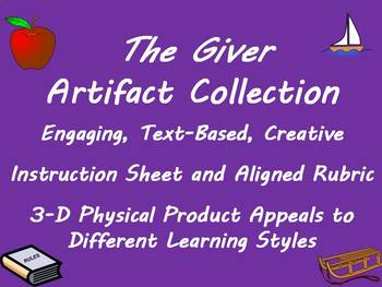 The Giver Artifact Collection! 3D Text-Based Post-Reading Project!