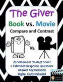 The Giver Book vs. Movie Compare and Contrast - Digital Co