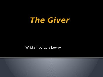 The Giver Brief PowerPoint Intro