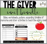 THE GIVER - ENGAGING NOVEL UNIT