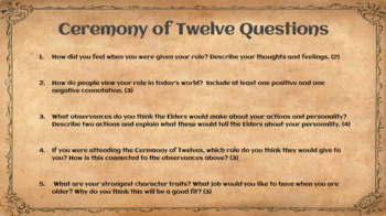 The Giver Ceremony of Twelve