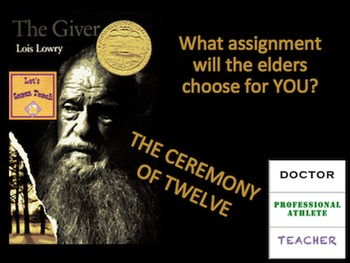 The Giver Ceremony of Twelve Activity