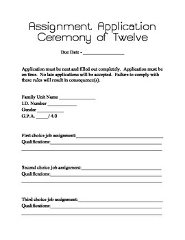 The Giver Ceremony of Twelve Reenactment