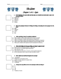 The Giver - Chapter 1-2 Quiz - ANSWER KEY (Editable)
