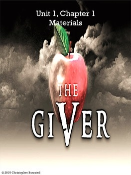 The Giver Chapter 1 Activity Packet