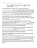 The Giver Chapter 1 Plug-In Handout
