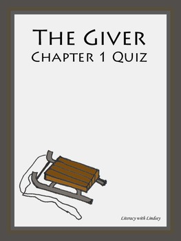 The Giver Chapter 1 Quiz