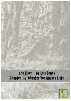 The Giver - Vocabulary Lists