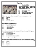 THIS IS THE ONE! The Giver: Chapters 6-8 Quiz