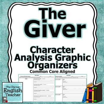 the giver character analysis graphic organizers by the daring english teacher. Black Bedroom Furniture Sets. Home Design Ideas