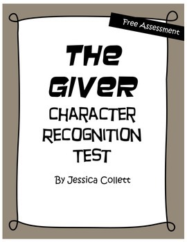 The Giver Character Recognition Test