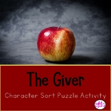 The Giver Character Sort Activity Puzzle