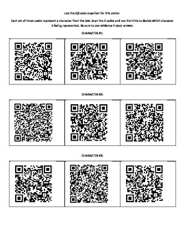 The Giver: Characterizaion and QR codes