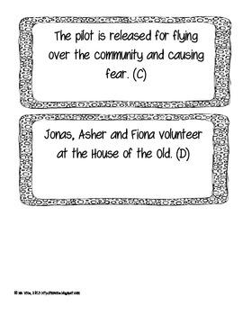 The Giver Chronological Order Sort