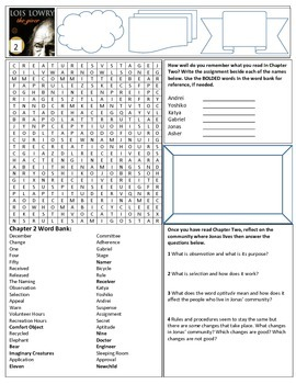 The Giver: Classroom Activity Pages