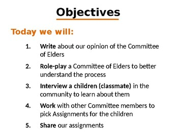 The Giver: Committee of Elders Simulation
