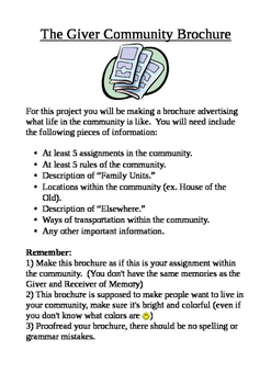 The Giver Community Brochure