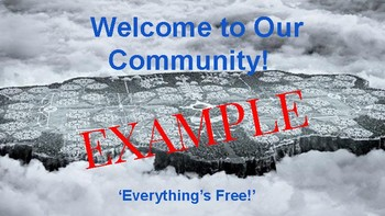 The Giver Community Travel Brochure (Persuasive Writing Activity)
