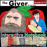 The Giver Unit - Interactive Notebook Activities, Quizzes, Vocabulary, Test