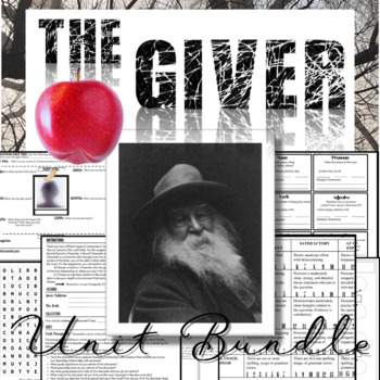 The Giver Novel Study: Complete Unit Bundle (80+ Pages of Activities)