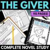 The Giver Novel Study Literature Guide Unit | Giver Compre