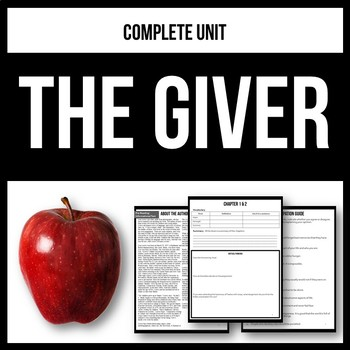 The Giver - Complete Unit - Workbook & Novel Study Activities