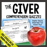 The Giver Chapter Quizzes