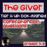 The Giver: Comprehension Questions (DOK-Aligned) | Distanc