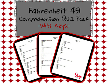 Fahrenheit 451 Comprehension Quiz Pack