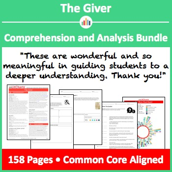 The Giver – Comprehension and Analysis Bundle