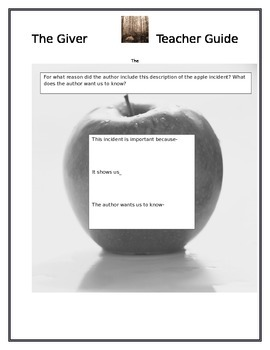 The Giver Comprehensive Teacher Guide and Study Materials