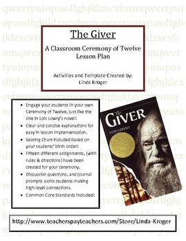 The Giver-Create Your Own Ceremony of Twelve!