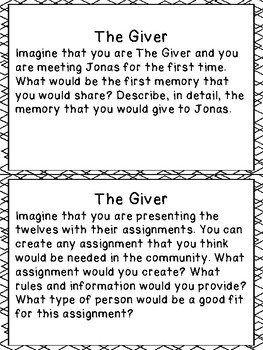 The Giver - Critical Thinking Questions