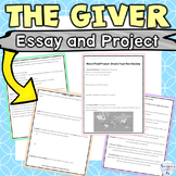 The Giver Article, Essay Activity and Design Your Own Society Project