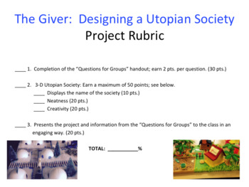 The Giver:  Designing a Utopian Society