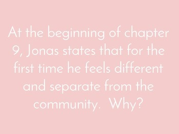"""""""The Giver"""" Discussion Questions"""